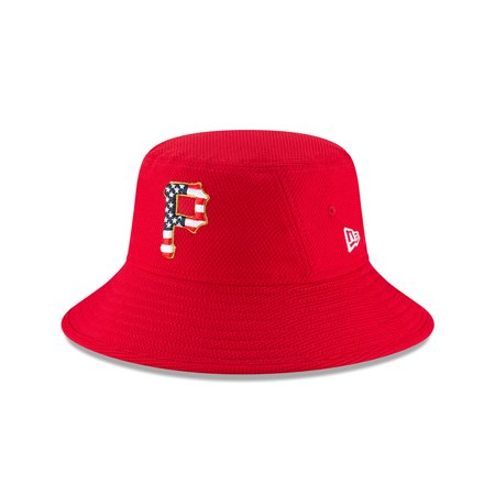 Pittsburgh Pirates New Era 2018 Stars & Stripes 4th of July Bucket Hat - Red -