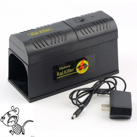 Electronic Mouse Rat Rodent Killer Rodent Repeller Electric Trap Zapper Pest Control High Voltage