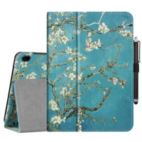 """Tablet Case for Onn 10"""" 10.1 Inch Android Tablet - Fintie Protective Folio Cover With Stylus Holder, Blossom"""