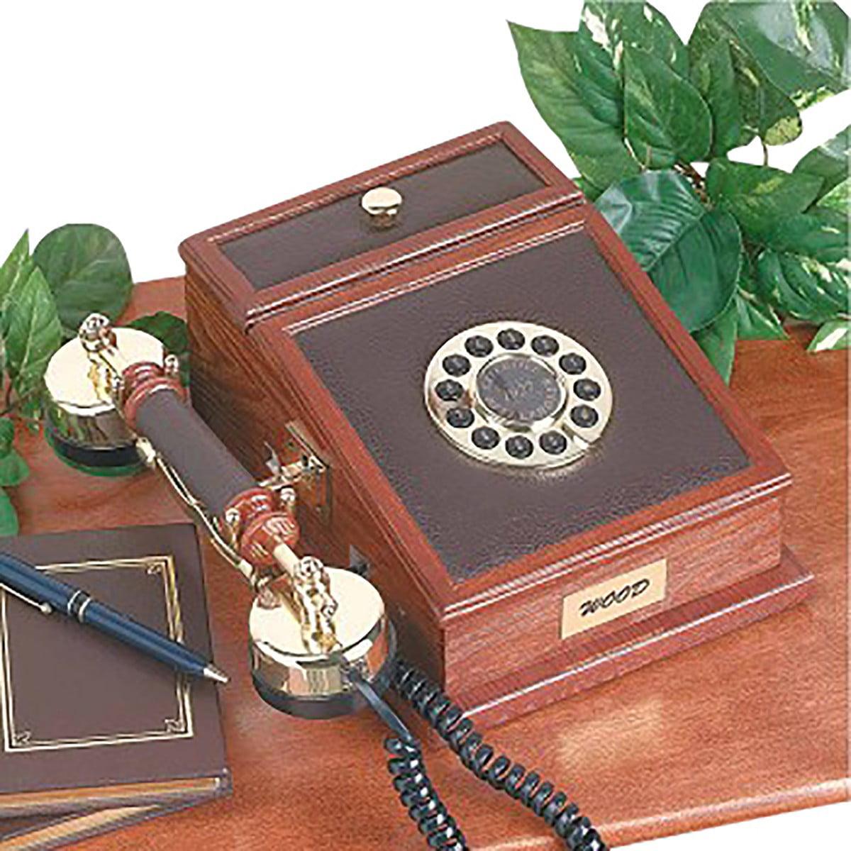 "Wood Telephone Oak Phone 10""H x 7.5""W x 4 3/8""D   Renovator's Supply"