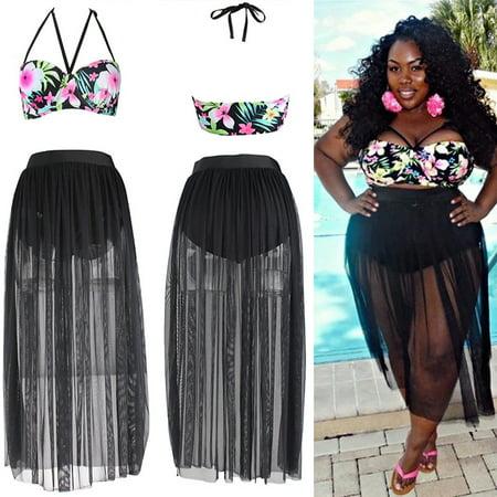 Swimsuits for Women Plus Bikini Set Halterneck Princess Skirt Push Up Floral Swimsuit Swimwear Beachwear Bra Swimming Costume - Cute Swimsuits For Tweens