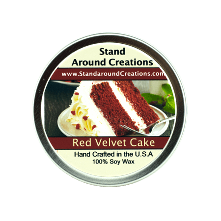RED VELVET CAKE TIN 8-OZ. ALL NATURAL SOY CANDLE