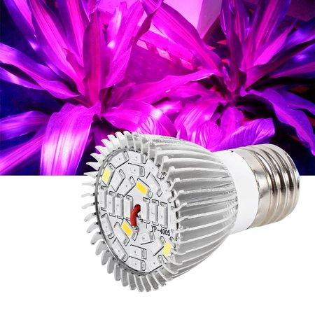 Qiilu Usine Led élèvent l'ampoule, Usine Led élèvent la lumière, Spectre complet E27 Led élèvent l'ampoule de la lampe de croissance pour la fleur de plante hydroponique bricolage - image 1 de 8