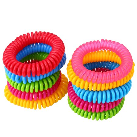 10Pack Natural Mosquito Repellent Bracelets Band [320Hrs] of Premium Pest Control Insect for Kids Adults ()