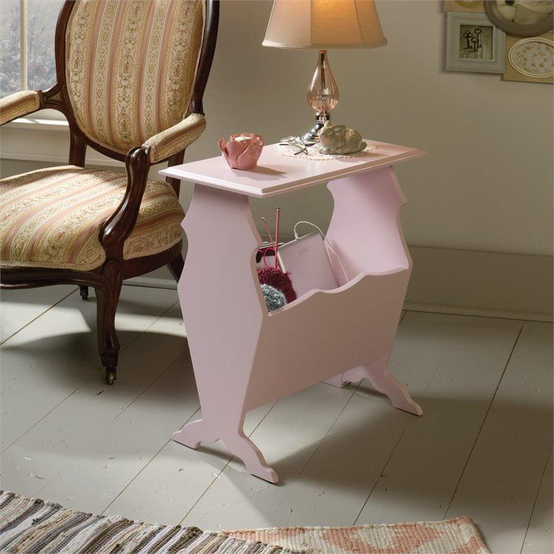 Sauder Eden Rue Side Table Pink Finish