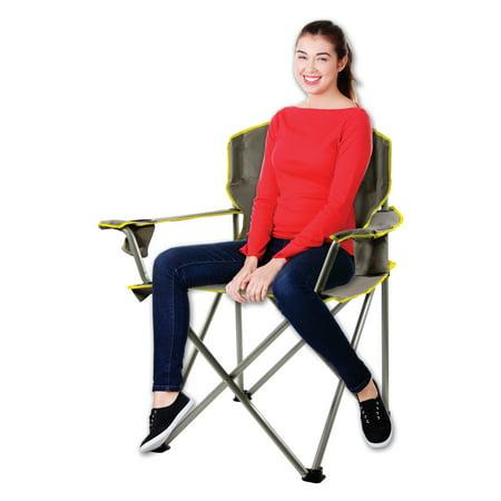 Quik Shade Heavy Duty Folding Chair Grey Walmart Com