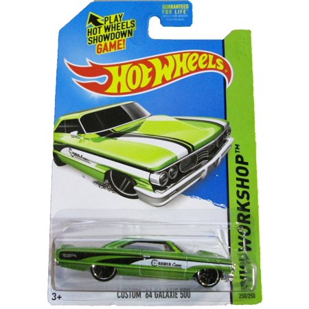 2014 Hw Workshop - Custom '64 Galaxie 500 - Green, HOT WHEELS By Hot (64 Ford Galaxie 500 Xl For Sale)