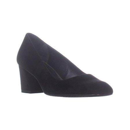- Womens Stuart Weitzman Marymid Block Heel Pumps, Black Suede, 7.5 US