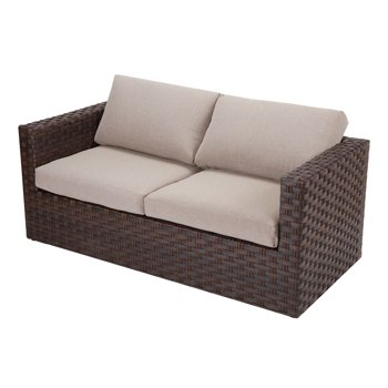 Better Homes & Gardens Harbor City Patio Loveseat with Beige Cushions