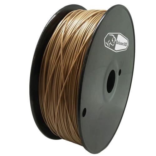 bison3D Filament for 3D Printing, 1.75mm, 1kg/roll, Gold (PLA)