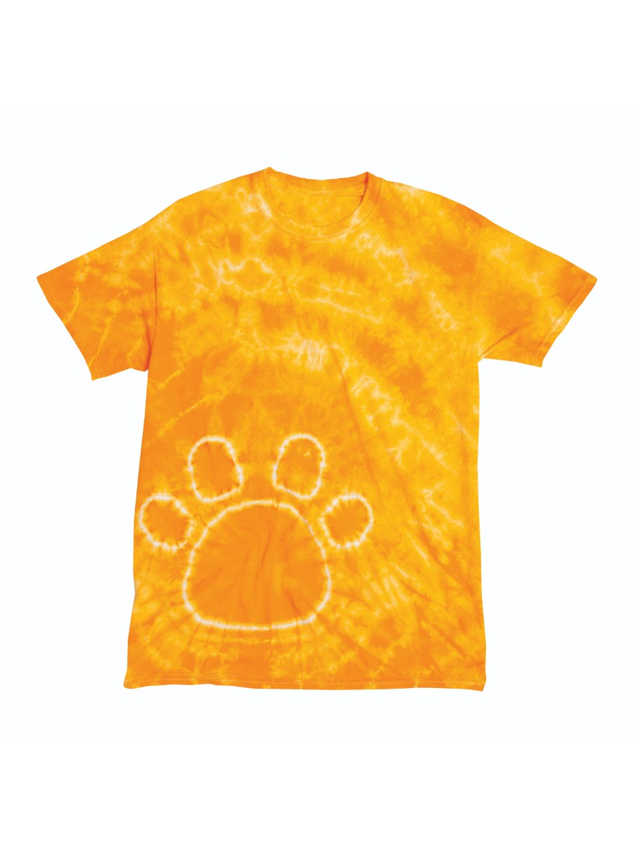 Pawprint Paw Print Youth Big Boys Big Girls Tie Dye T-Shirt Tee