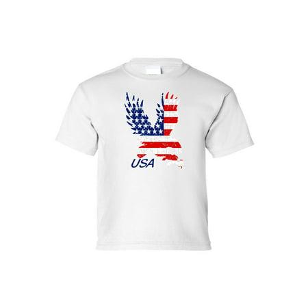 Amercian Eagle Kids (Kids USA Flag Tee American Bald Eagle Short Sleeve)