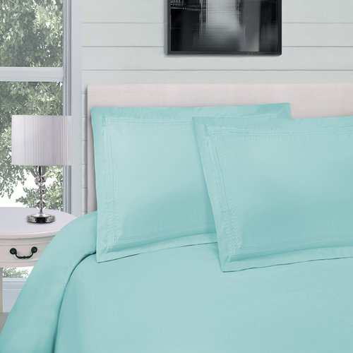 Charlton Home Bilbrey Infinity Embroidered 3 Piece Duvet Cover Set