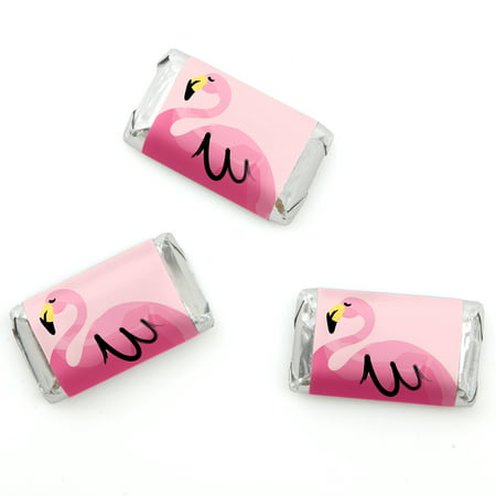 Flamingo - Party Like a Pineapple - Mini Candy Bar Wrappers Party Favors - 20 Count