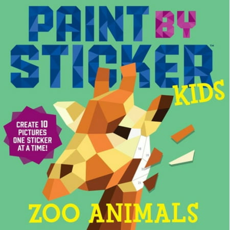 Paint by Sticker Kids: Zoo Animals - Paperback](Adult Sticker Book)
