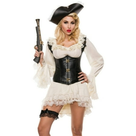 Pirate Maiden Costume - Pirate Maiden Costume Starline S5013 Black/Ivory