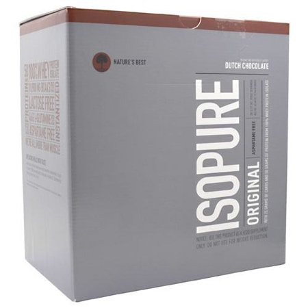 Isopure Nature's Best Original Protein Drink Packets, Dutch Chocolate, 3.17 Oz, 20