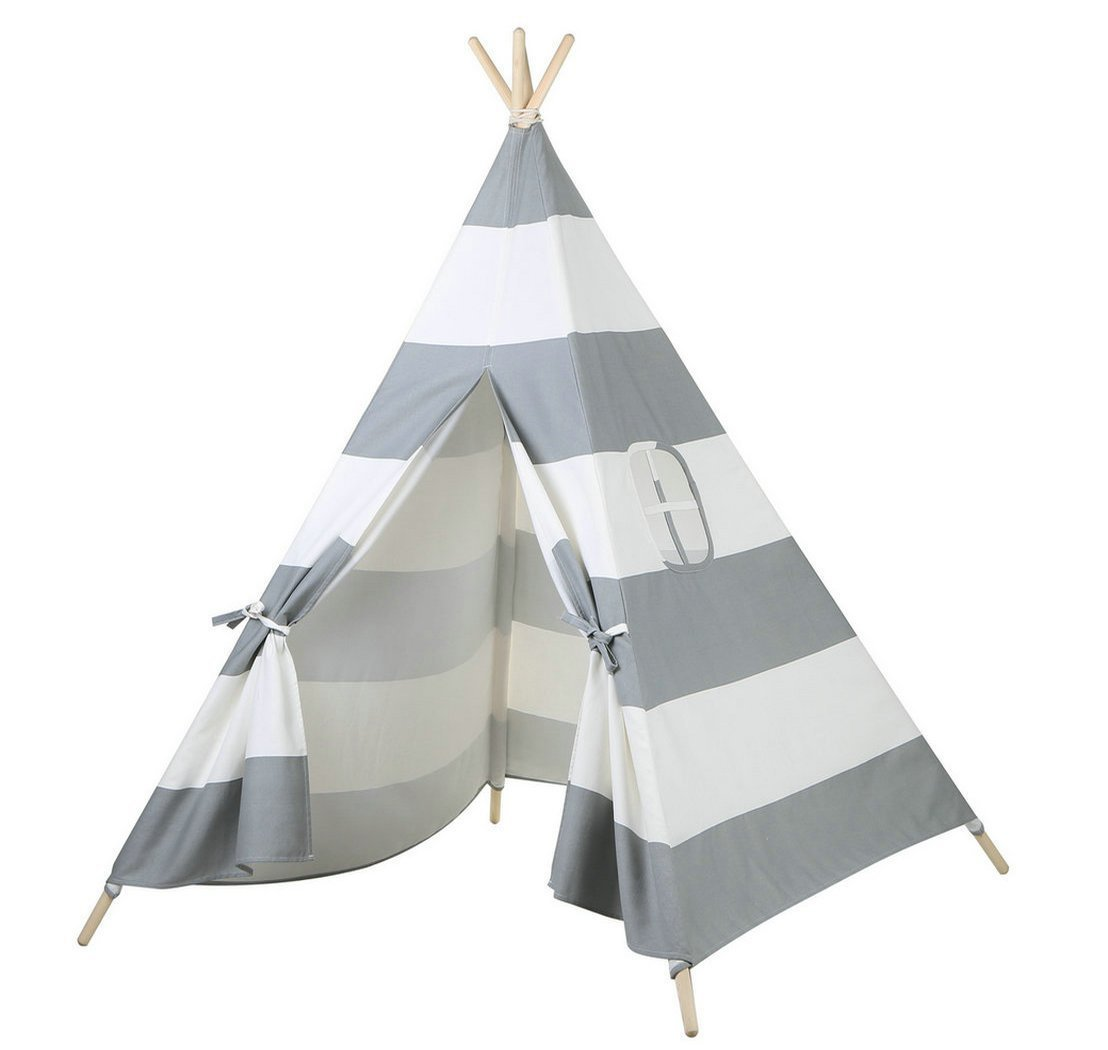 Steegic Foldable Cotton Canvas Indian Teepee Kid Play Tent for Children Playhouse - Walmart.com  sc 1 st  Walmart & Steegic Foldable Cotton Canvas Indian Teepee Kid Play Tent for ...