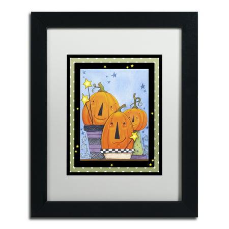 Trademark Fine Art 'Pumpkin Pot Friends' Black Framed Art by Jennifer (Pumpkin Pots)