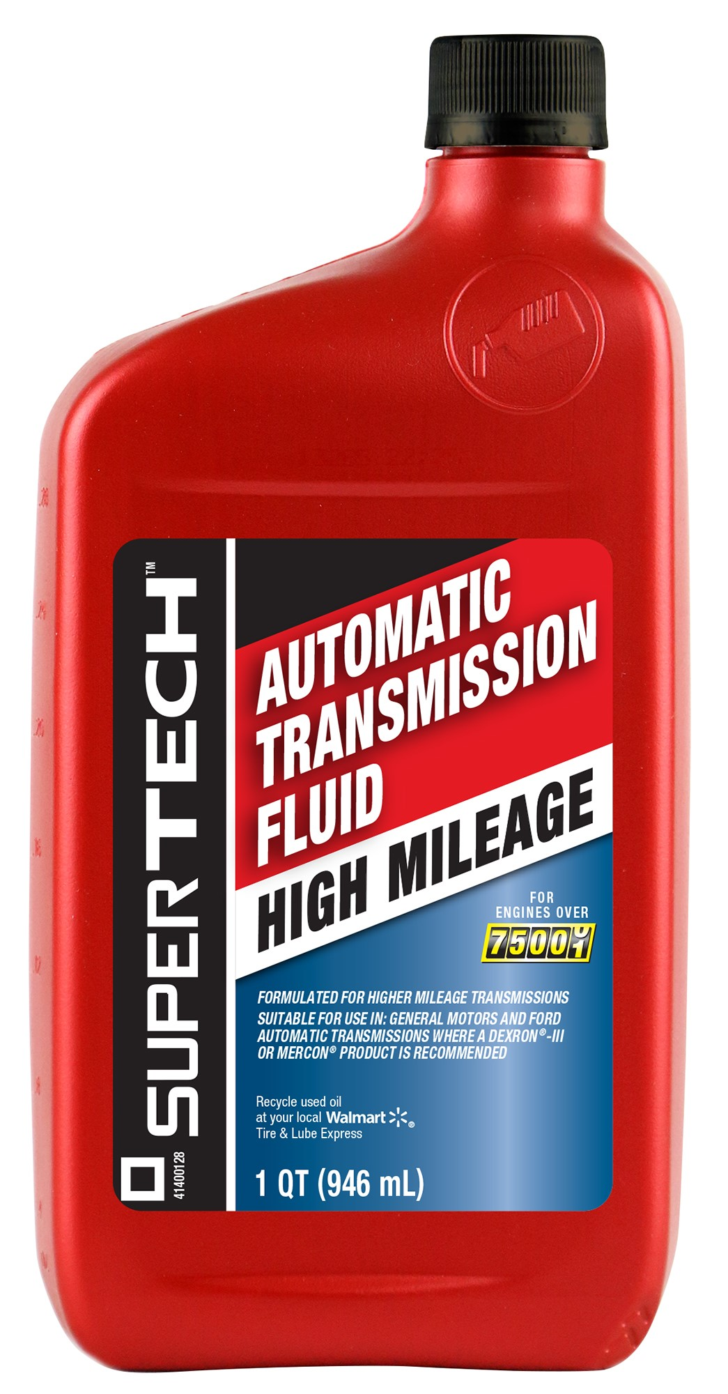 Automatic Transmission Fluid >> Super Tech High Mileage Automatic Transmission Fluid 1 Qt Walmart Com