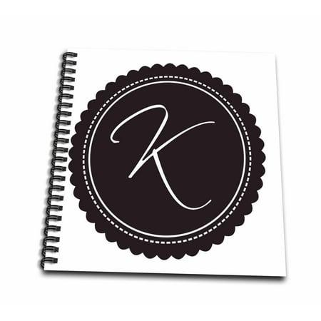 3dRose Monogram Letter K Brown Flower - Mini Notepad, 4 by 4-inch](Monogrammed Notepads)