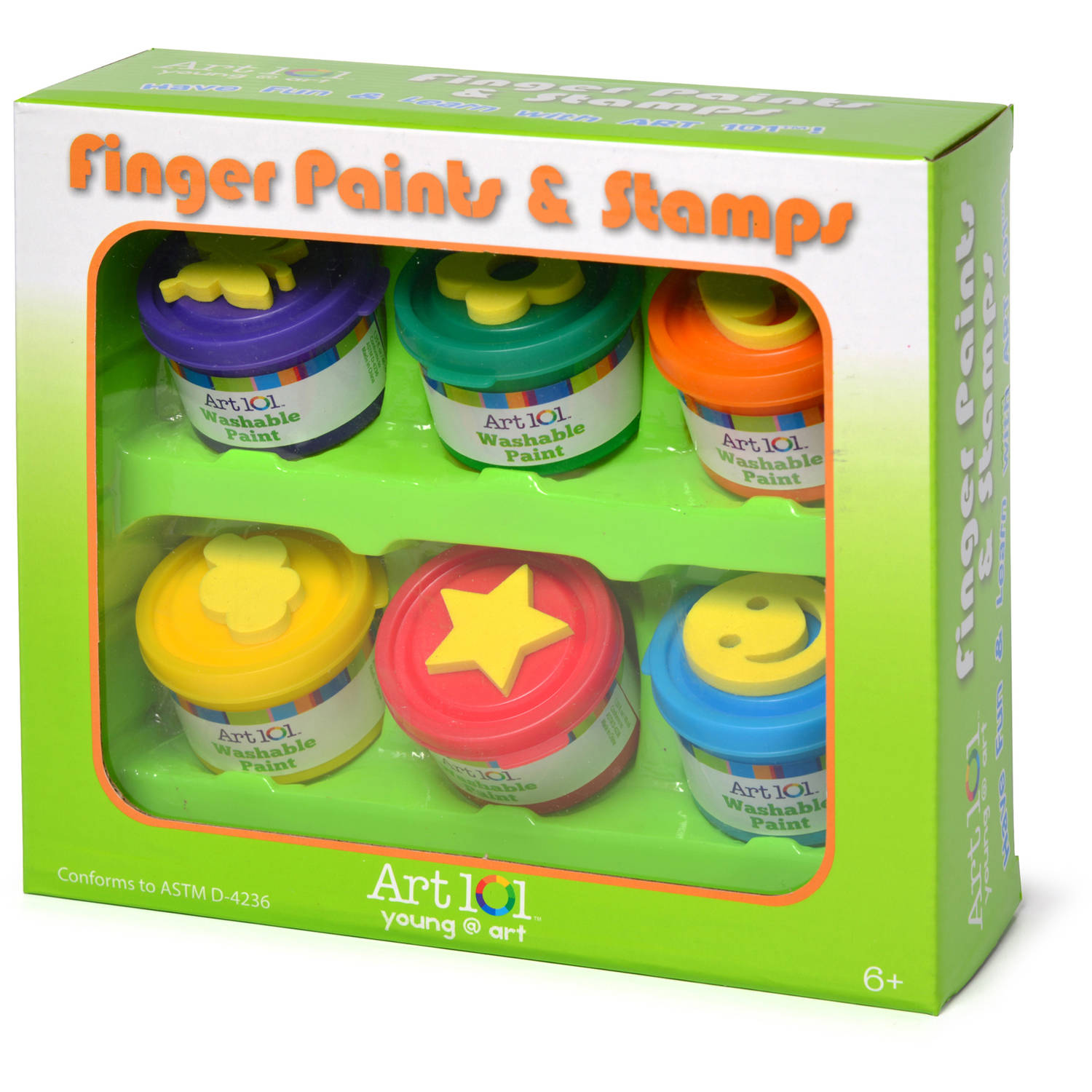 Art 101 Kids' Finger Paint and Stamp Set