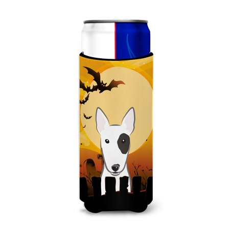 Halloween Pak Mannen (Halloween Bull Terrier Ultra Beverage Insulators for slim cans)