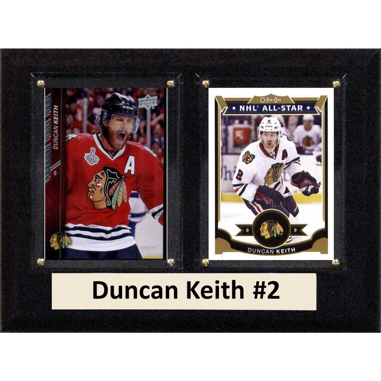 "C & I Collectables NHL 6"" x 8"" Duncan Keith Chicago Blackhawks Two-Card Plaque"