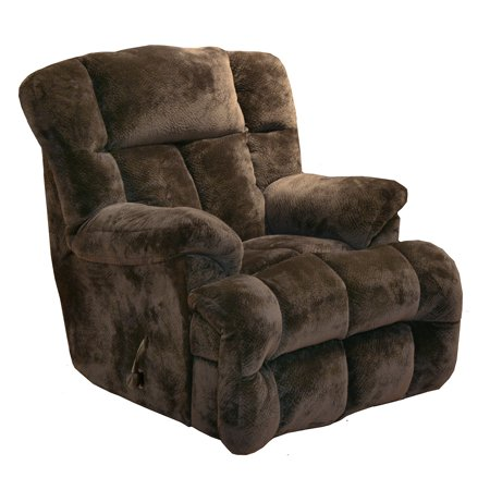 Catnapper Cloud 12 6541 2 Manual Chaise Rocker Recliner Chair   Chocolate With In Home Delivery And Setup