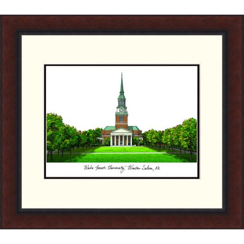 Wake Forest University Legacy Alumnus Framed Lithograph