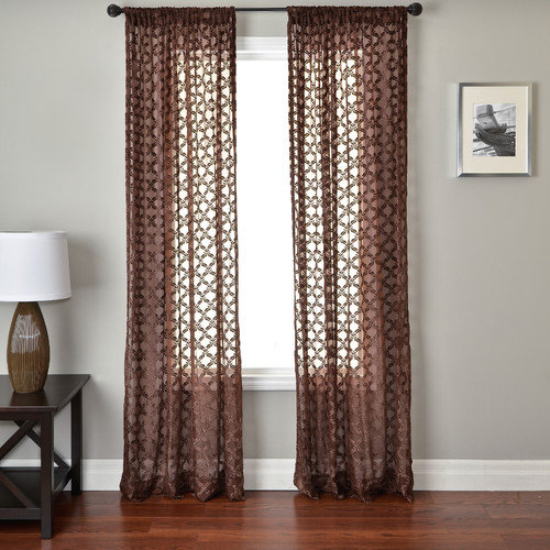 Softline Home Fashions Mezzo Curtain Panel in Chocolate
