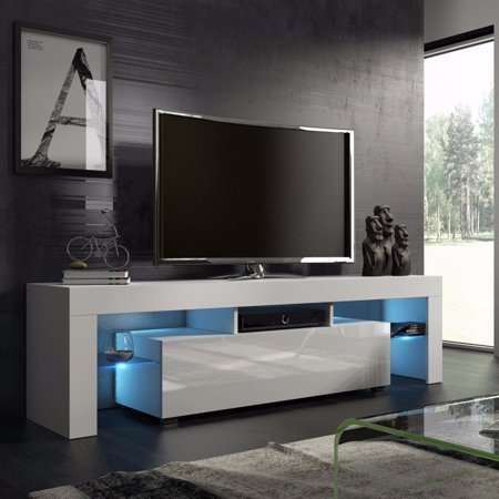 White nordic fashionable design home living room tv for Meuble console tv
