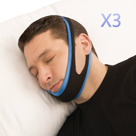 3 Pack Stop Snoring Chin Strap Snore Belt Anti Apnea Jaw Solution Sleep Tmj Support