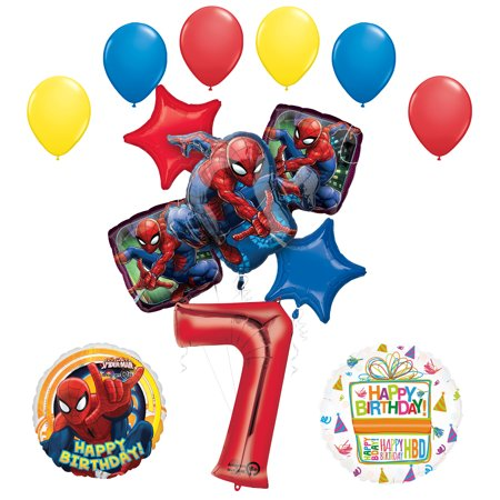 Spiderman Birthday Decorations (The Ultimate Spider-Man 7th Birthday Party Supplies and Balloon)