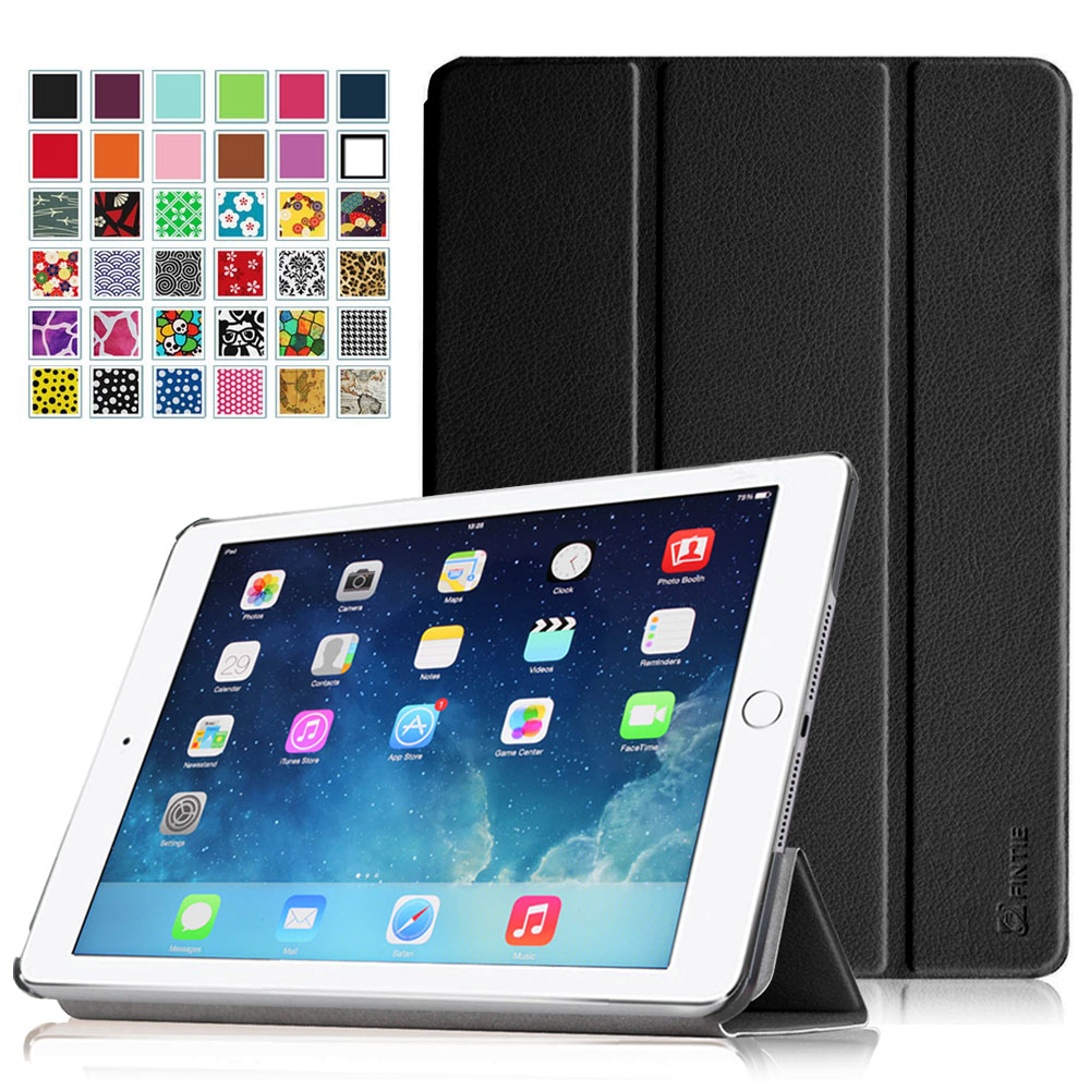 iPad Air 2 Case - Fintie Ultra Slim Stand Case with Auto Wake / Sleep Feature for Apple iPad Air 2 (iPad 6), Black