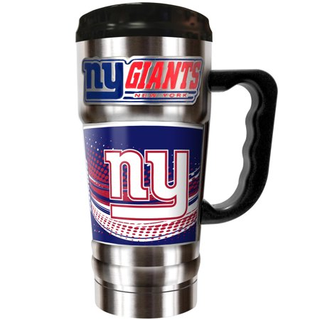 New York Giants The Champ 20 oz. Travel Tumbler - Silver - No Size - Ny Giants Gear
