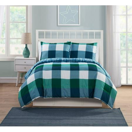 VCNY Home Quest Plaid Bedding Comforter Set