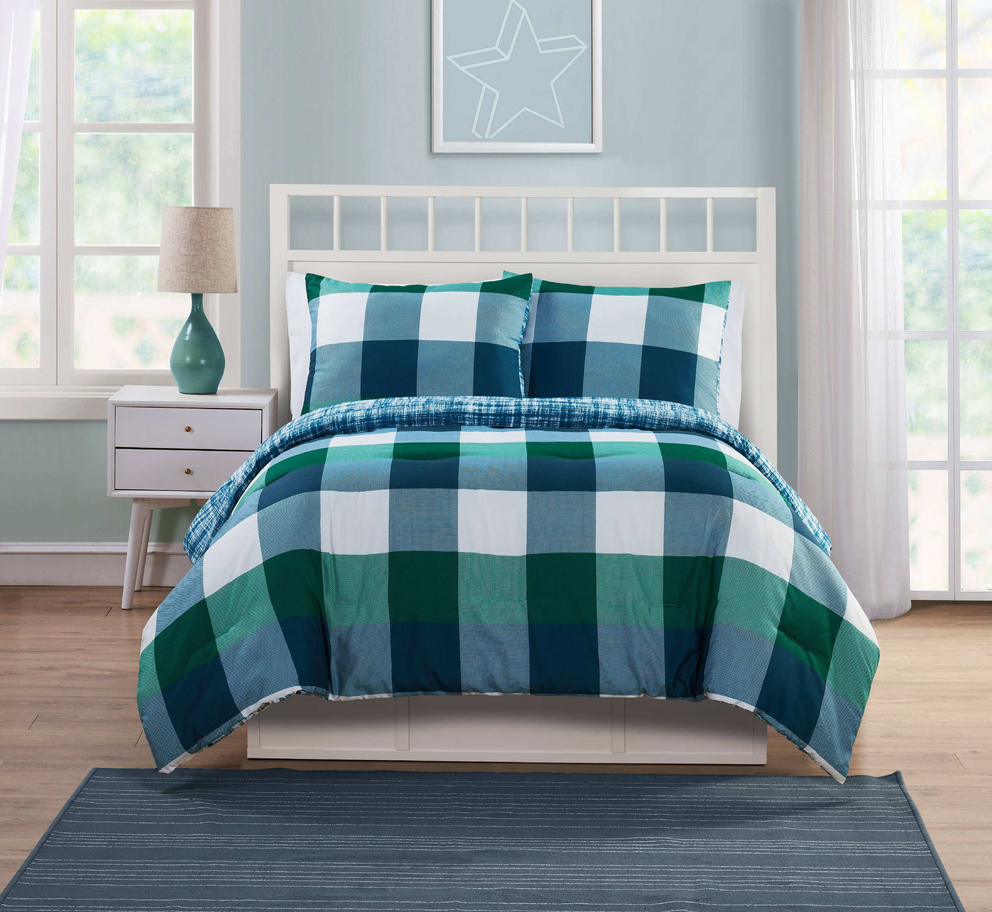 VCNY Home Quest Plaid Bedding Comforter Set