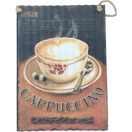 Cappuccino and Coffee Cup Metal Wall Art - Walmart.com