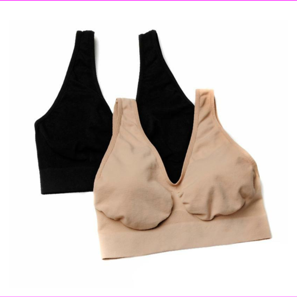 Rhonda Shear Seamless Ahh Bra 2-pack-494034-Nude/Black