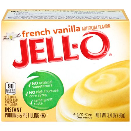 (Jell-O French Vanilla Instant Pudding & Pie Filling Mix 3.4 oz. Box)
