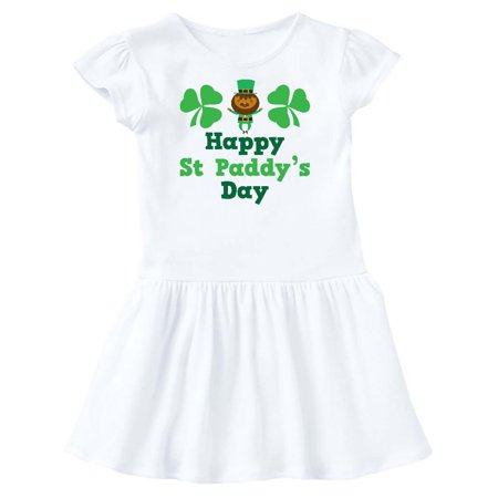 Happy St Patricks Leprechaun Toddler Dress - St Patricks Dress