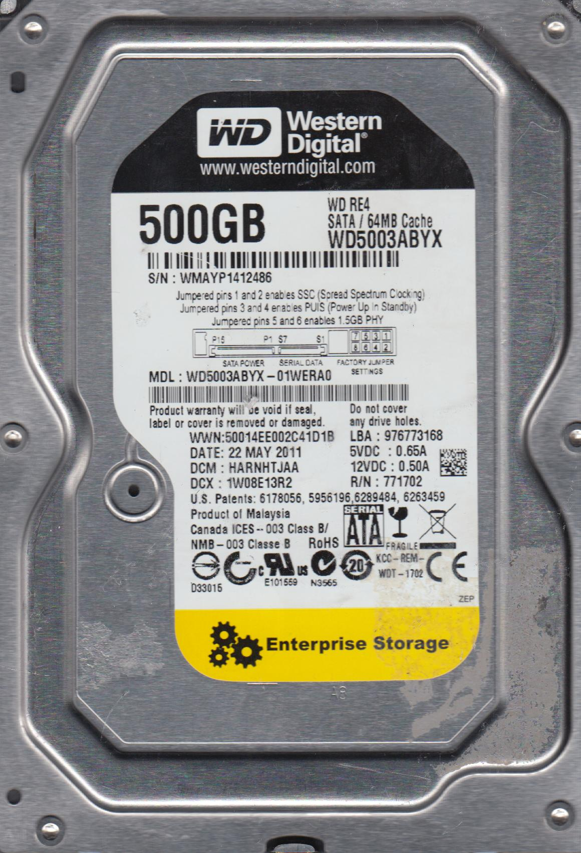 WD5003ABYX DRIVER DOWNLOAD FREE