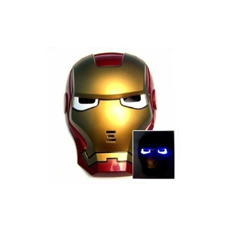 Growing Iron Man Mask, with LED Light up Eyes, Best Gift For Children, WALL DECOR By