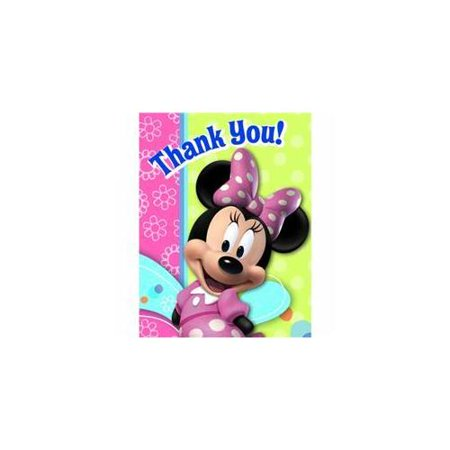 minnie mouse 'bow-tique' thank you notes w/ envelopes (8ct)