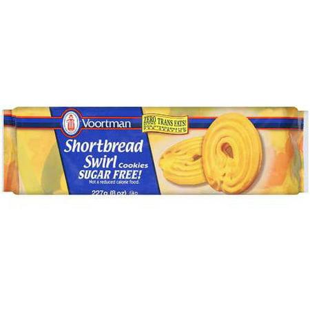 (2 Pack) Voortman Shortbread Swirl Cookies, 8 oz - Shortbread Halloween Cookies Finger