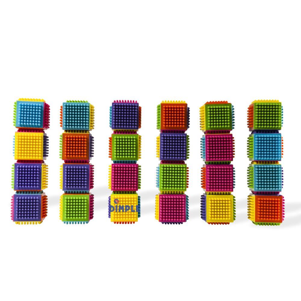 Matashi 24 Piece Stacking Bristle Blocks and Interconnecting Building Set For Toddlers and... by Dimple