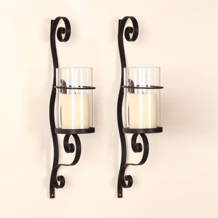 Red Barrel Studio Iron Wall Sconce Candle Holder Set Of 2