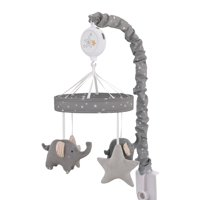 Parent's Choice Goodnight - Grey, White, Stars and Elephants Nursery Musical Mobile