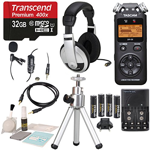 Tascam DR-05 (Version 2) Portable Handheld Digital Audio Recorder (Black) wit...